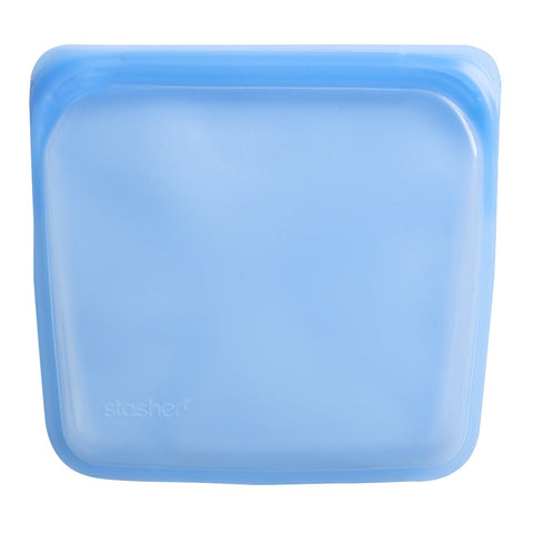 Stasher - Plastic-Free Sandwich Bag - Blue Topaz