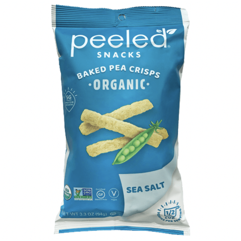 Peeled Snacks - Peas Please Organic Baked Pea Crisps - Sea Salt (93.5g)