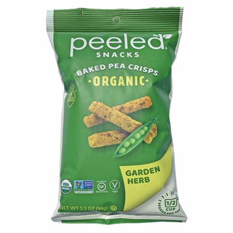 Peeled Snacks - Peas Please Organic Baked Pea Crisps - Garden Herb (93.5g)