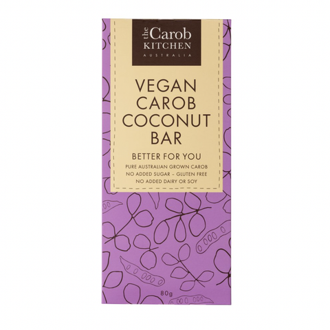 The Carob Kitchen - Vegan Carob Coconut Bar (80g)