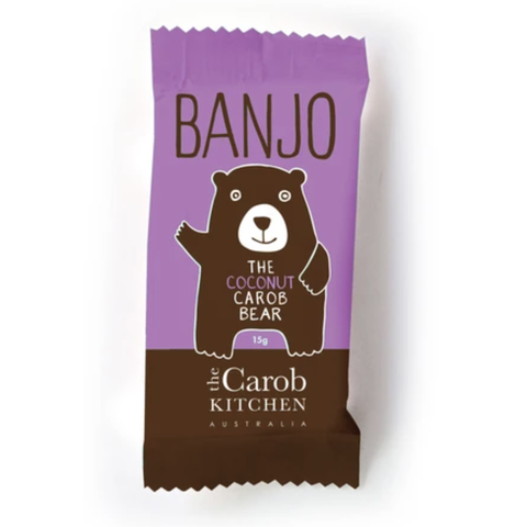 The Carob Kitchen - Banjo The Carob Bear - Coconut (15g)