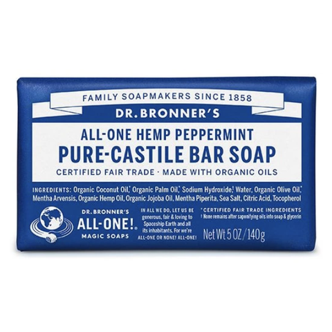 Dr Bronners - Castile Soap Bar - Peppermint (140g)