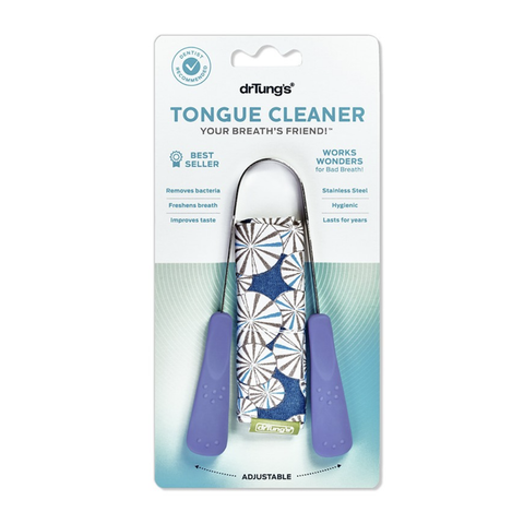 Dr Tungs - Stainless Steel Tongue Cleaner (with a Bonus Pouch)