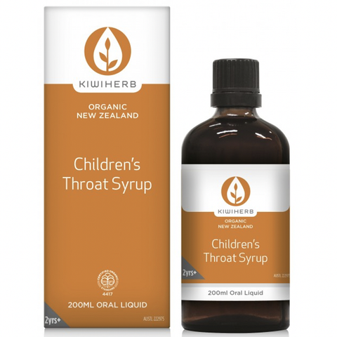Kiwiherb - Children's Throat Syrup (200ml)