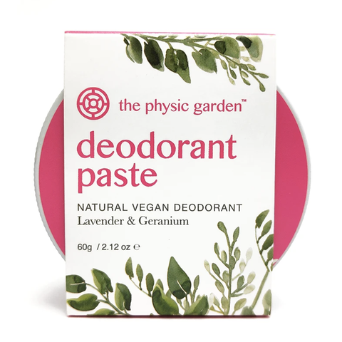 The Physic Garden - Deodorant Paste - Lavender and Geranium (60g)