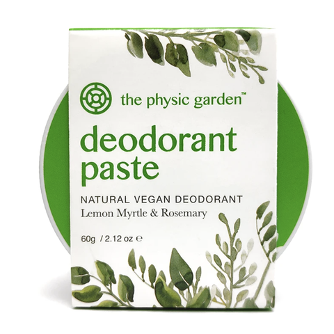 The Physic Garden - Deodorant Paste - Lemon Myrtle and Rosemary (60g)