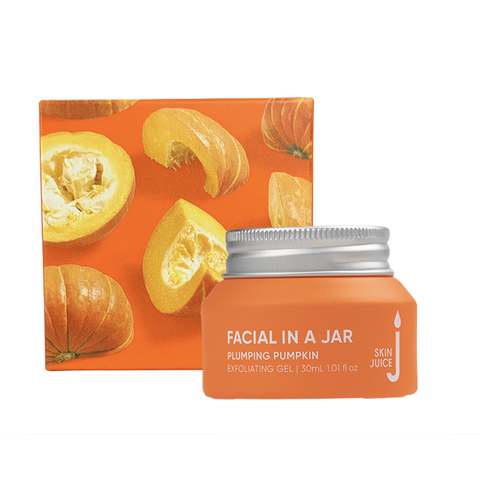 Skin Juice - Facial in a Jar - Plumping Pumpkin Exfoliating Gel (30ml)