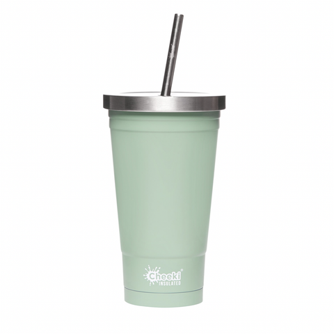 Cheeki - Insulated Stainless Steel Tumbler with Straw - Pistachio (500ml)