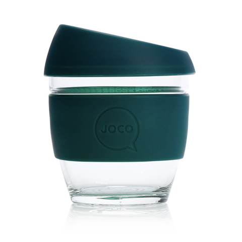 JOCO - Reusable Glass Cup - Deep Teal (Small 8oz)
