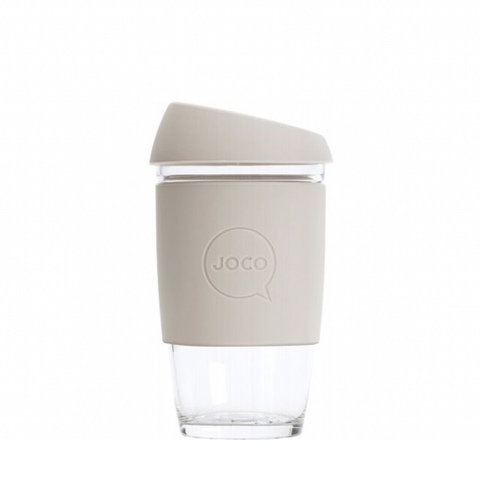 JOCO - Reusable Glass Cup - Sandstone (Extra Small 6oz)