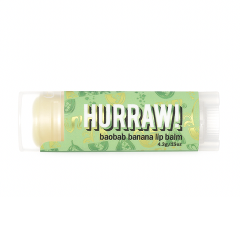 Hurraw! - Vegan Lip Balm - Baobab Banana (4.3g)