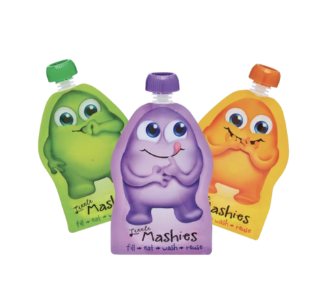 Little Mashies - Reusable Food Pouches - Assorted (10 x 130ml)