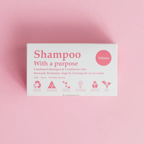 Shampoo With A Purpose - Shampoo and Conditioner Bar - Volume (135g)