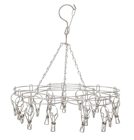 Bare & Co. - 316 Grade Stainless Steel Peg Hanger - Flower Design (20 pegs)