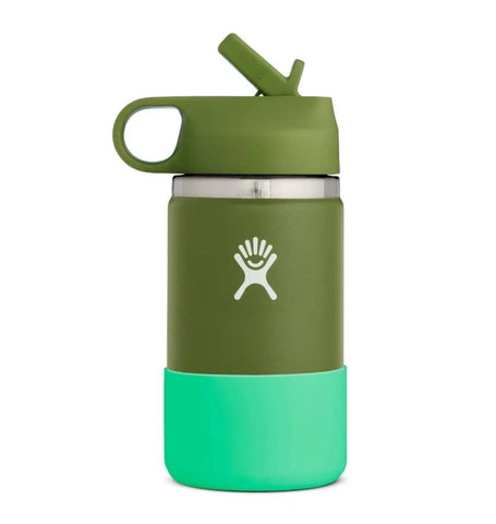 Hydro Flask - Double Insulated Wide Mouth Kids Bottle with Straw Lid - Olive (354ml)