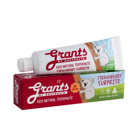 Grants - Kids Natural Toothpaste - Strawberry Surprise 75g