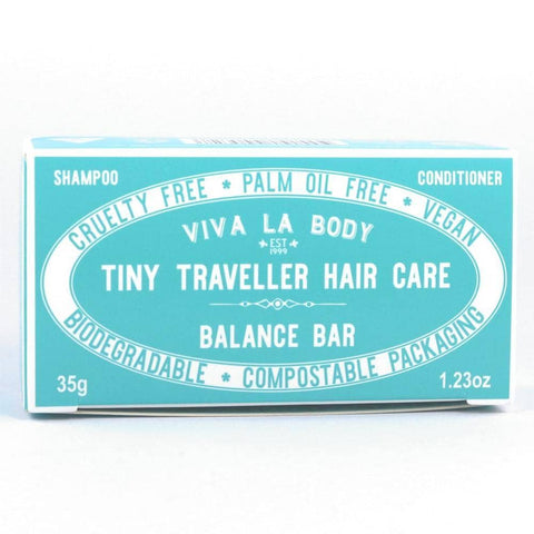 Viva La Body - Tiny Traveller Shampoo and Conditioner - Balance Bar (35g)