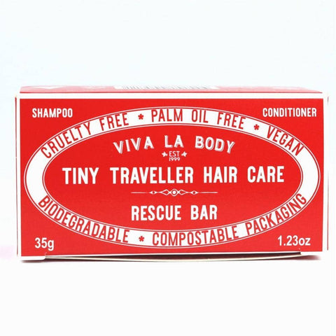 Viva La Body - Tiny Traveller Shampoo and Conditioner - Rescue Bar (35g)