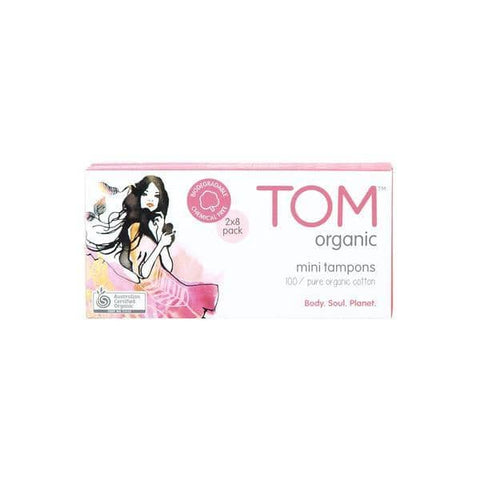 TOM -  Organic Cotton Tampons - Mini (16 pack)