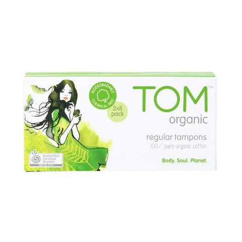 TOM Organic - Organic Cotton Tampons - Regular (16 pack)