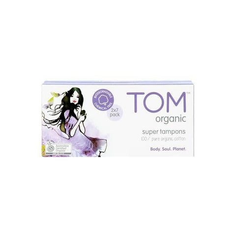 TOM Organic - Organic Cotton Tampons - Super (16 pack)