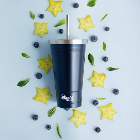 Cheeki - Insulated Stainless Steel Tumbler with Straw - Ocean (500ml)