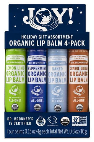 Dr Bronner's - Joy Lip Balm Set (4 x 4g)