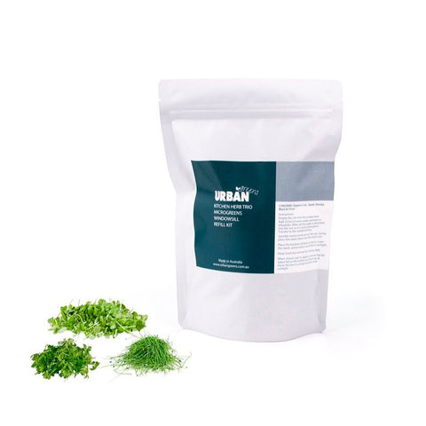 Urban Greens - Windowsill Seed and Soil Refill - Herb Trio