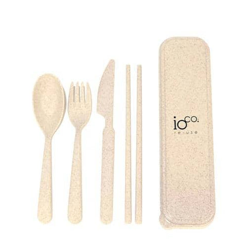 ioCO. - Wheat Straw Fibre Cutlery Set - Natural