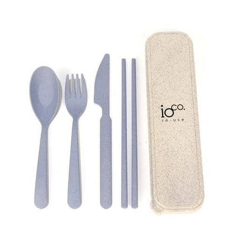 ioCO. - Wheat Straw Fibre Cutlery Set - Blue/Purple