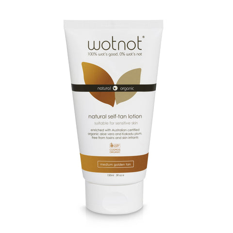 Wotnot - Natural Self-Tan Lotion - Medium Golden Tan (150ml)