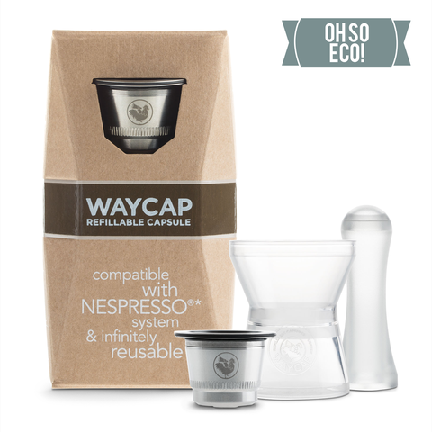 WayCup -  Nespresso®* Compatible Refillable Capsules - Single Pack