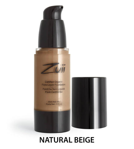 Zuii Organic - Organic Flora Liquid Foundation - Natural Beige Sample