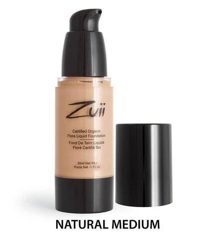 Zuii Organic - Organic Flora Liquid Foundation - Natural Medium 30ml