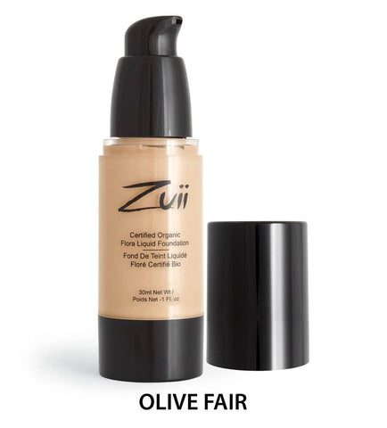 Zuii Organic - Organic Flora Liquid Foundation - Olive Fair Sample