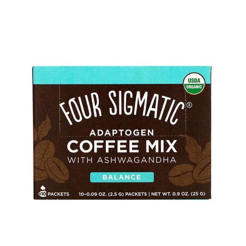 Four Sigmatic - Adaptogen Coffee Mix with Ashwagandha and Tulsi (10 x 2.5g)
