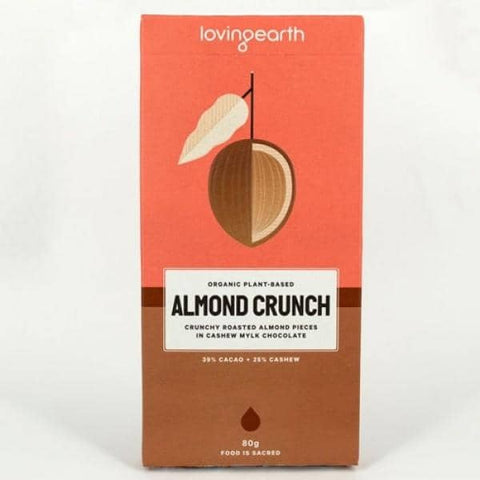 Loving Earth - Chocolate - Almond Crunch (80g)