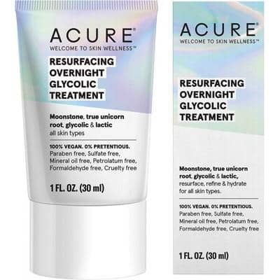 ACURE - Resurfacing Overnight Glycolic Treatment (30ml)