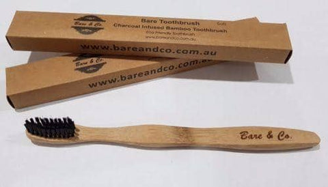Bare & Co. Eco Friendly Charcoal Toothbrush - Medium