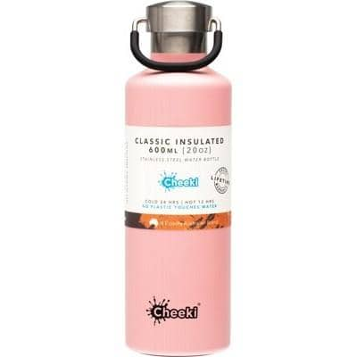 Cheeki - Classic Insulated Bottle - Pink 600ml