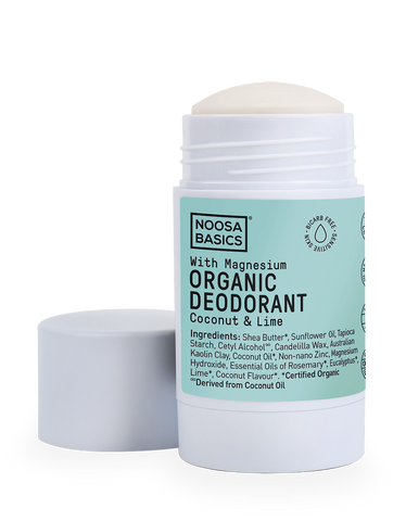 Noosa Basics - Organic Bicarb-Free Deodorant Stick with Magnesium - Coconut and Lime (60g)