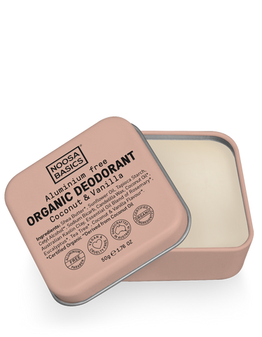 Noosa Basics - Organic Deodorant Tin - Coconut and Vanilla (50g)
