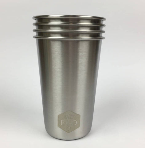 Ever Eco -  Stainless Steel Drinking Cups 4 pack 500ml