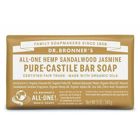 Dr Bronners - Castile Soap Bar - Sandalwood and Jasmine (140g)