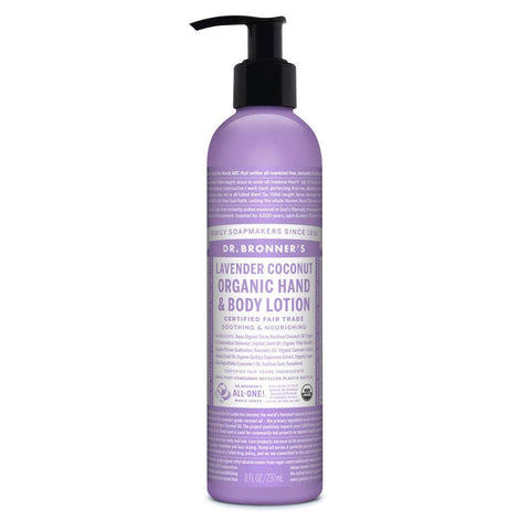 Dr Bronners Organic Hand & Body Lotion - Lavender and Coconut - 237ml