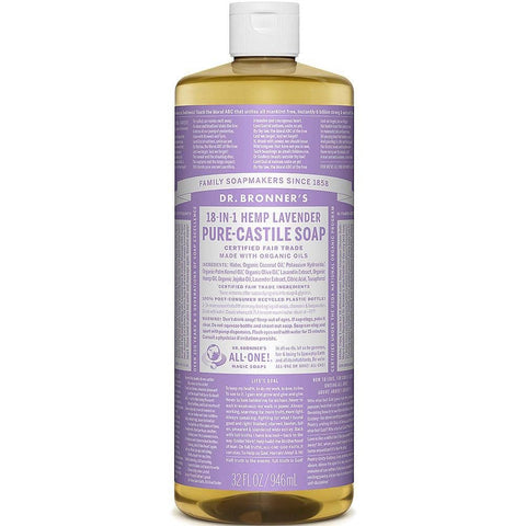 Dr Bronners 18 in 1 Pure Castile - Lavender Liquid Soap 946ml