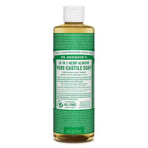 Dr Bronners - 18 in 1 Pure Castile Liquid Soap - Almond (473ml)