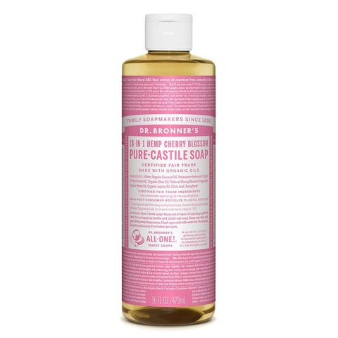 Dr Bronners 18 in 1 Pure Castile - Cherry Blossom Liquid Soap 473ml