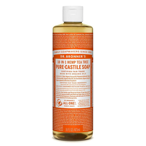 Dr Bronners - 18 in 1 Pure Castile Liquid Soap - Tea Tree (473ml)