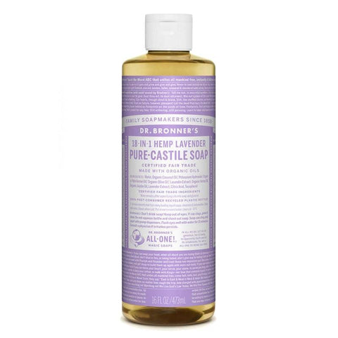 Dr Bronners 18 in 1 Pure Castile - Lavender Liquid Soap 473ml
